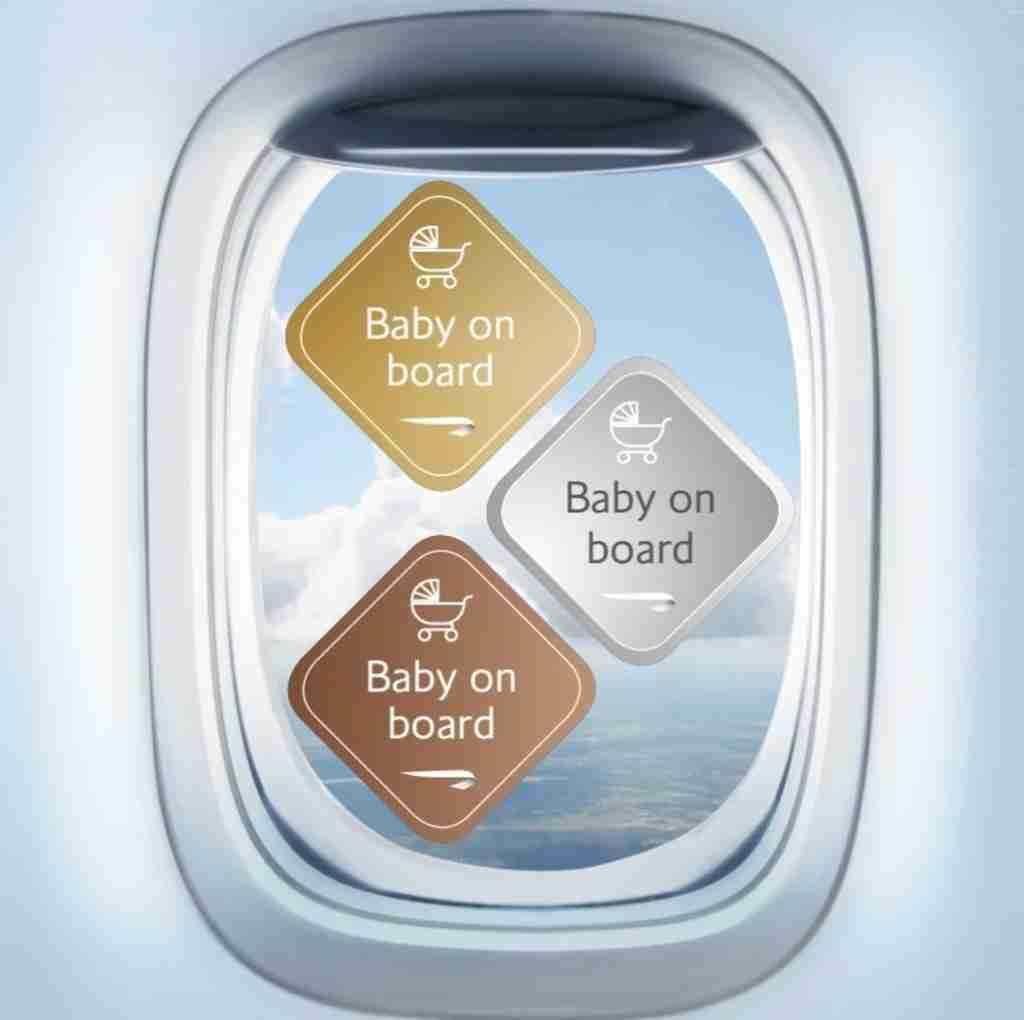 British Airways baby on board