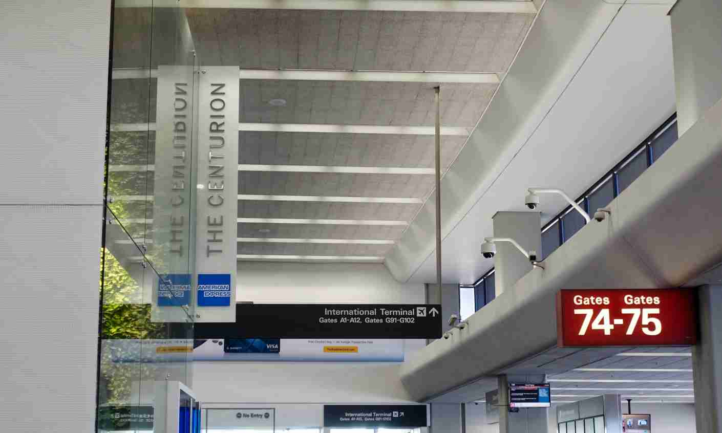 The entrance to the Centurion Lounge in San Francisco (SFO).