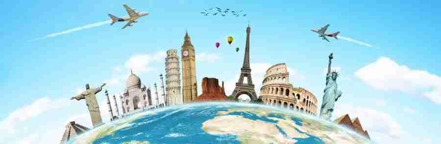 Travel globe monuments landmarks featured shutterstock 97739021