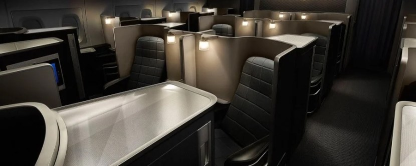 British Airways' first-class seat.