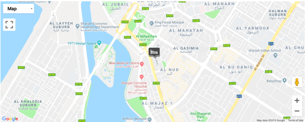 four points by sheraton sharjah location map uae