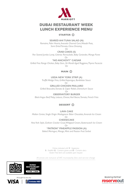 observatory lunch menu Dubai Restaurant week review uae