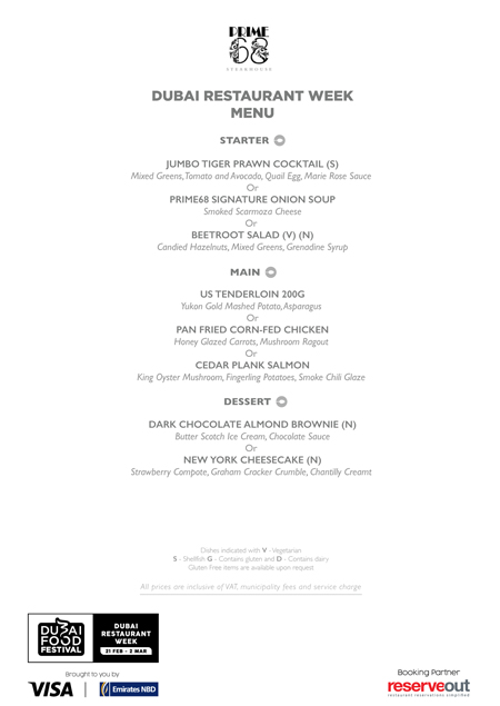 prime68 menu Dubai Restaurant week review uae