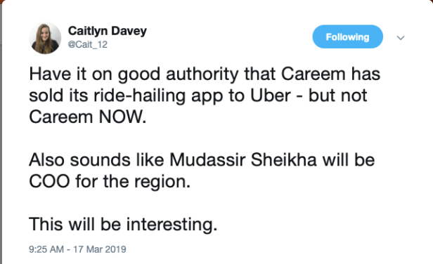 uber Careem acquisition dubai uae