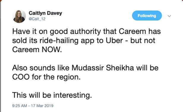 uber Careem acquisition dubai uae