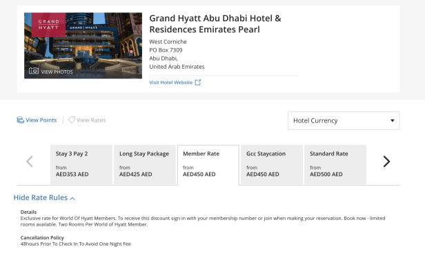 grand hyatt abu dhabi summer rate stay uae