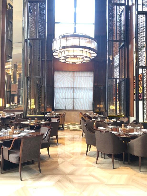 conrad pune review coriander kitchen breakfast seating hilton honors maharashtra india