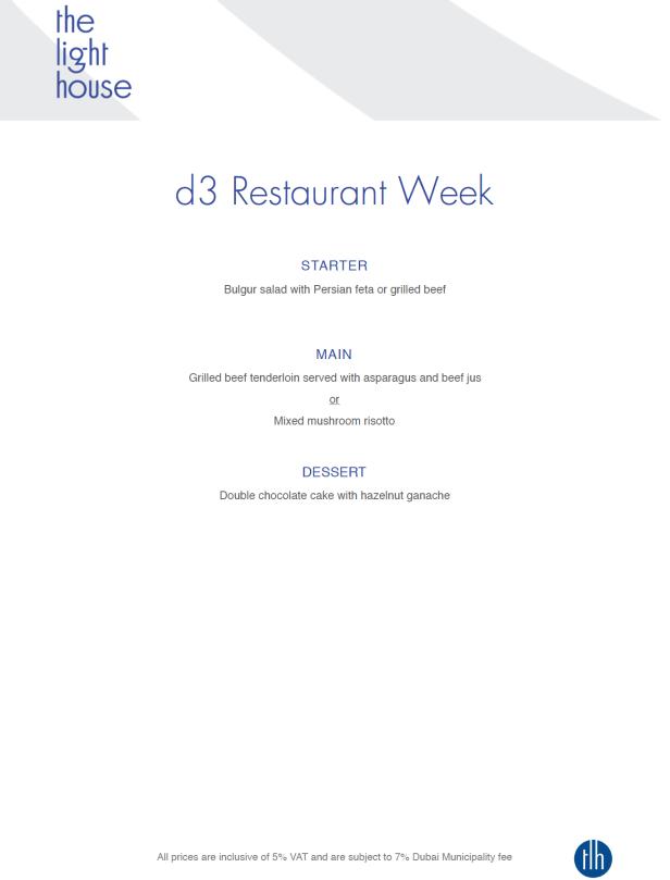 d3 restaurant week dubai design district 2019 the lighthouse set special menu review uae