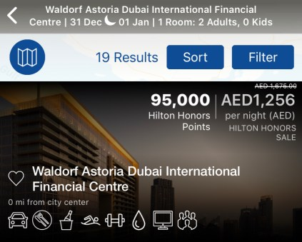 waldorf astoria difc dubai international financial centre finance burj daman winter rate cash award hilton honors points uae