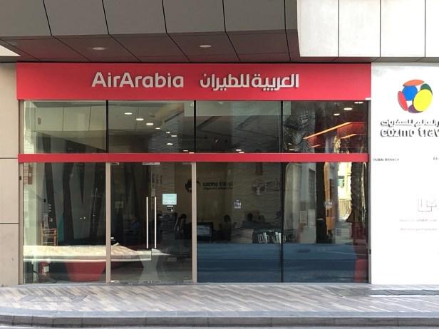 air arabia al ghurair centre deira dubai city checkin cozmo travel shuttle bus coach service review sales uae thepointshabibi