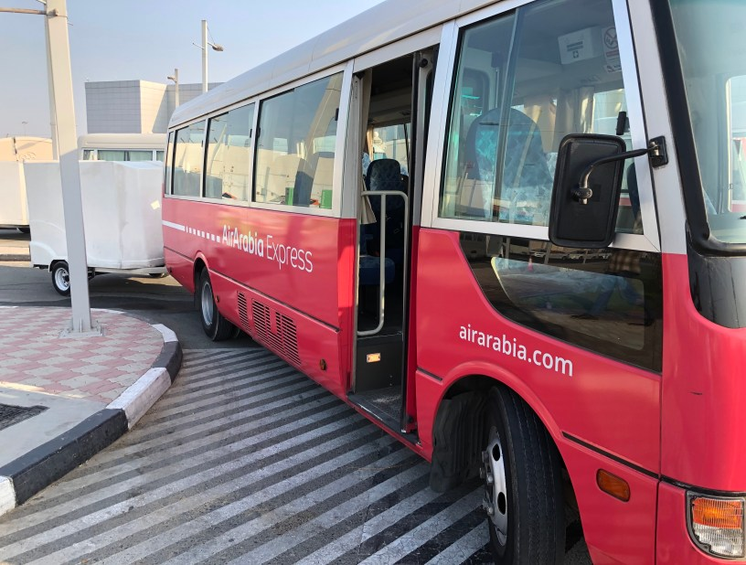air arabia coach shuttle bus express service review al ghurair centre dubai sharjah airport shj al ain abu dhabi ras al khaimah hours schedule timing price cost checkin flight airline travel united arab emirates uae thepointshabibi