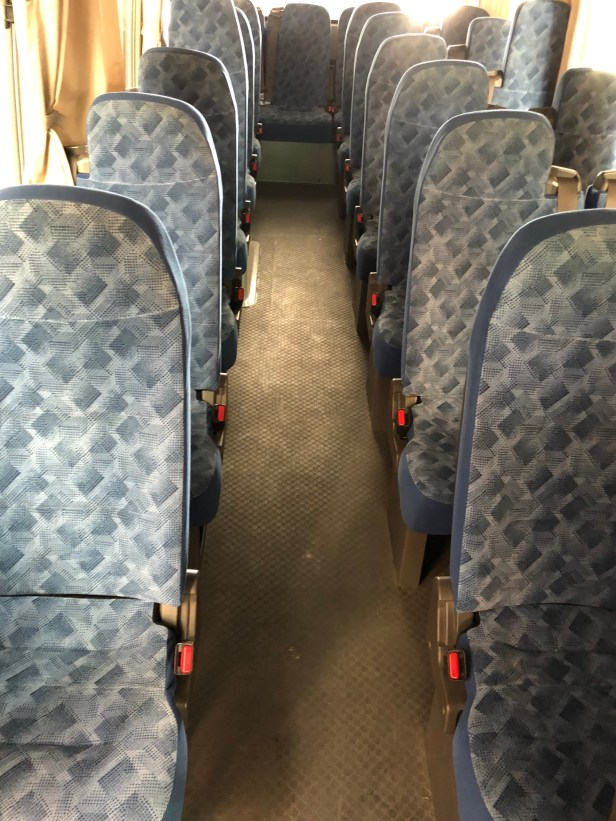 bus minibus coach seat seating service review at sharjah airport shj uae thepointshabibi