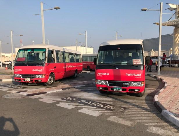 air arabia shuttle coach bus al ain dubai abu dhabi ras al khaimah schedule time timing hours departure arrival review sharjah airport shj uae thepointshabibi