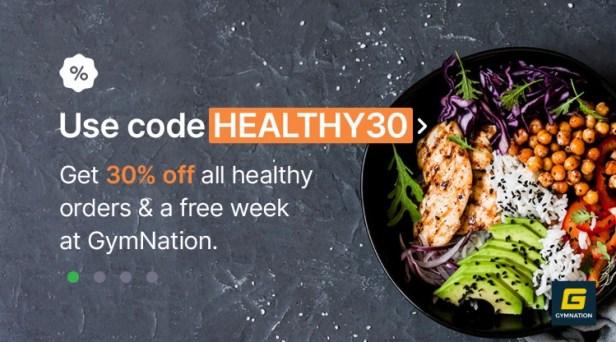 careem careemnow dubai fitness challenge promotion promo code healthy poke bowl discount offer coupon free gymnation membership dubai30x30 uae thepointshabibi