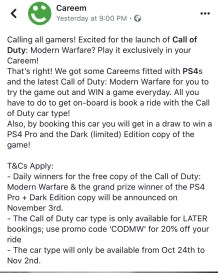 careem promo code call of duty modern warfare ps4 dubai uae