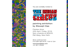 The Indian Circus Painting exhibition by Biswajit Das