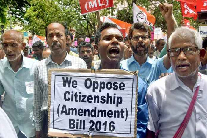 Strip protests continue in Assam over citizenship bill