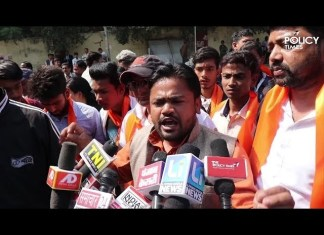 Hindu Sena protests against opposition
