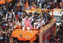 amit shah roadshow violence in West Bengal