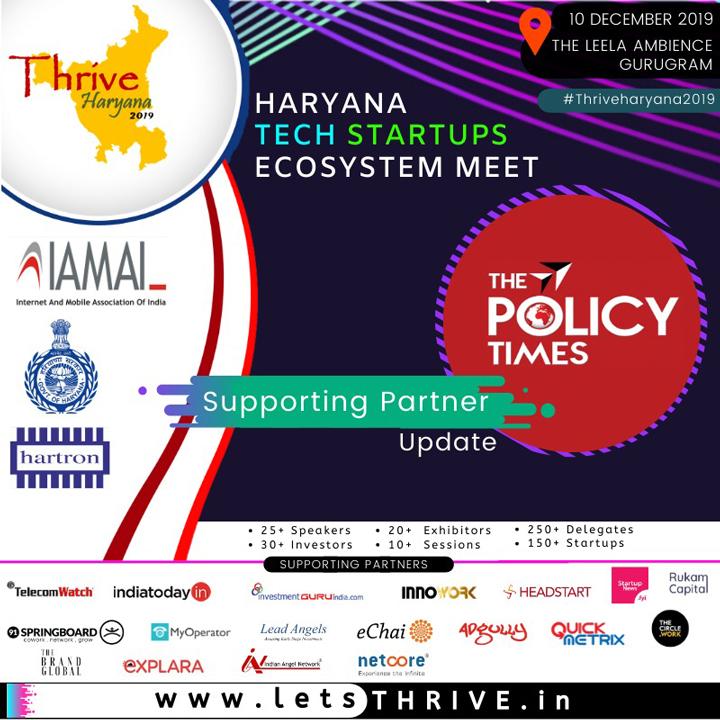 IAMAI and GoH to host THRIVE-HARYANA'2019 in Gurugram