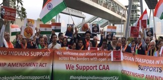 NRIs in Hongkong Came in Support of CAA-The Policy Times