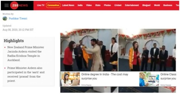 Fact Check: New Zealand's Prime Minister temple visit goes viral with false claims. The policy times