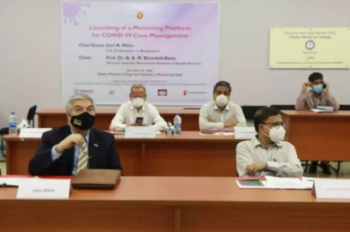 United States Ambassador to Bangladesh Ambassador Miller Launches E-Mentoring Platform for Doctors to Treat COVID-19 in Bangladesh.the policy times