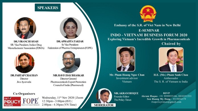 Indo-Viet Business Forum 2020| Exploring Vietnam's Incredible Growth in Pharmaceuticals.THE POLICY TIMES