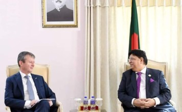Bangladesh Foreign Minister Dr. Momen met three new Ambassadors to Bangladesh.the policy times