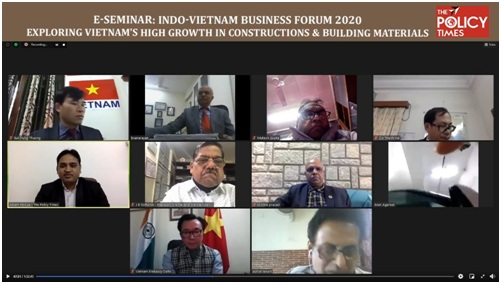 Vietnam Embassy Organized E- Seminar to Promote Bilateral Trade Relationship in Building and Infrastructure Sector.THE POLICY TIMES