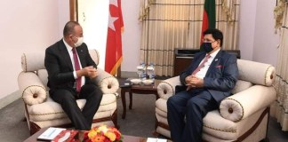 Bangladesh become rising star in South Asia under the leadership of Prime Minister Sheikh Hasina - Turkey foreign minister Mevlut Cavusoglu .the policy times