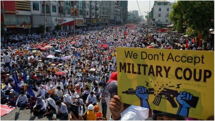 Anti-Coup Protesters Shot Dead; Strike Call in Myanmar the policy times