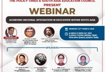 Webinar| Bringing Academic Transformation with Mutual Collaboration within South Asia THE POLICY TIMES