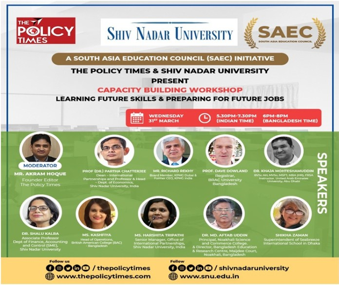 The Policy Times & Shiv Nadar University Jointly Organized Capacity Building Webinar on Learning Future Skills and Preparing For Future THE POLICY TIMES