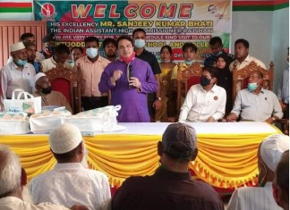 A H C of India in Bangladesh visited the Muktijoddha Technical School and College in Bogura