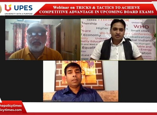 """South Asia Education Council Initiative Webinar :""""Tricks & Tactics for Competitive Advantages in Upcoming Board Exams"""" the policy times"""
