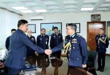 Newly appointed Bangladesh Air Force Chief Air Vice Marshal Sheikh Abdul Hannan assumes charge