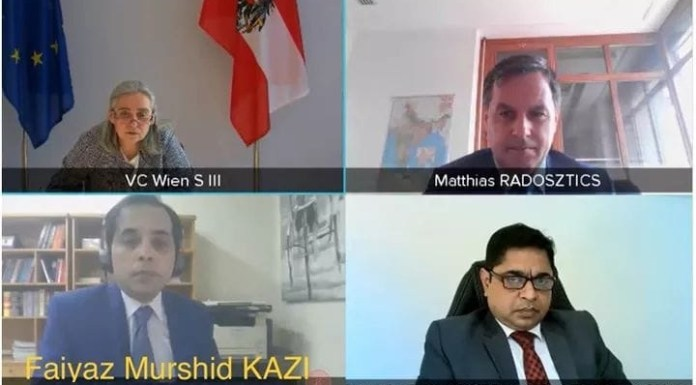 Bangladesh and Austria held Foreign Office Consultations virtually on 8 June 2021