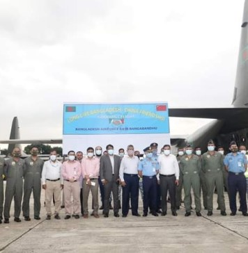 Two C-130J transport aircraft of Bangladesh Air Force return home from China with 6 lakh dose of coronavirus vaccine