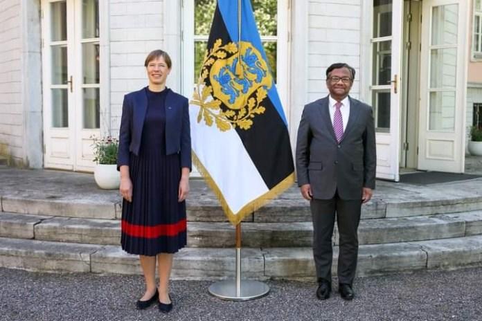 Ambassador of Bangladesh to Estonia (with residence in Copenhagen, Denmark), presented his credentials to the President of Estonia