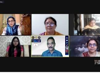 Researcher Jaishri Jethwaney, Academician Dr Monisa Qadri and filmmaker Vijay S Jodha engage on Day 2 of ICAN 4