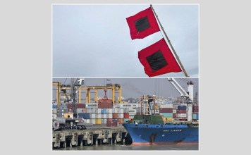Warning signal number three is in force in the seaports of Bangladesh