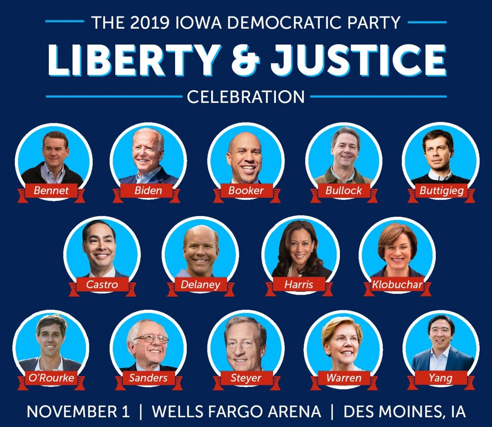 , 13 candidates in Iowa at Liberty & Justice Celebration, The Politicus