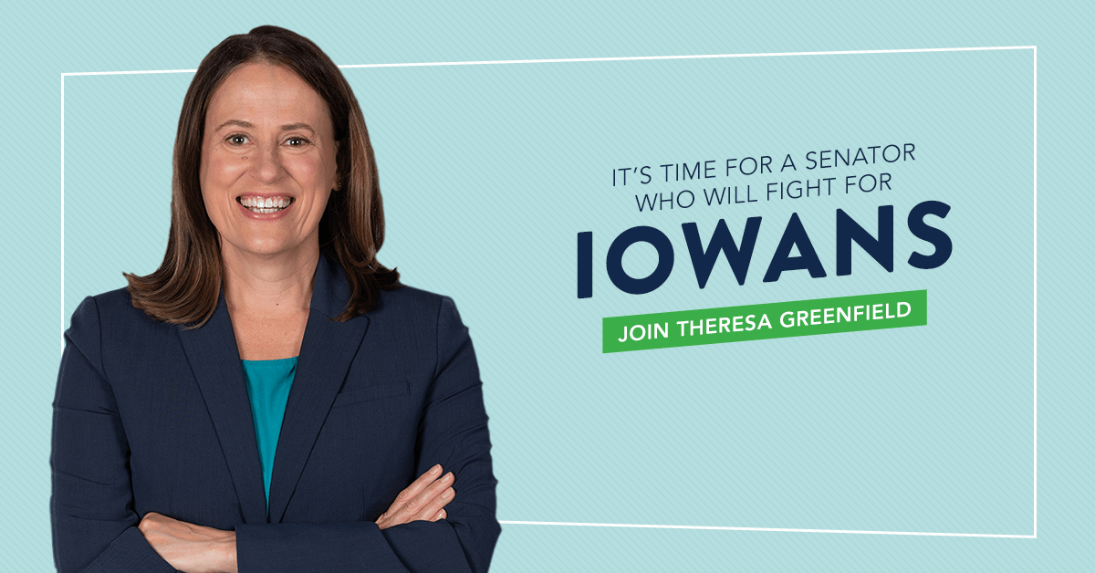 , IA-Sen: Social Security Works PAC Helps Theresa Greenfield (D) Defeat Joni Ernst (R), The Politicus