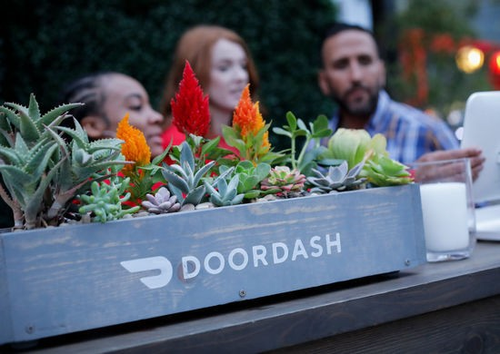 LOS ANGELES, CALIFORNIA - MAY 08: A view of general atmosphere at the Doordash booth at 'Night Market' presented by The Los Angeles Times on May 08, 2019 in Los Angeles, California. (Photo by Tibrina Hobson/Getty Images for Los Angeles Times Food Bowl)