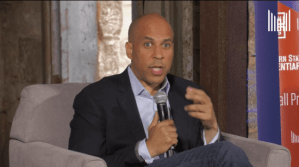 Cory Booker takes questions from people impacted by incarceration on his record with criminal justice reform, policing.