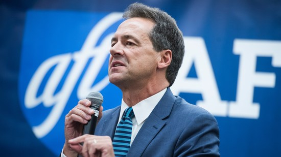 UNITED STATES - SEPTEMBER 19: Montana Gov. Steve Bullock speaks during a town hall at the American Federation of Teachers in Washington, D.C., on Thursday, September 19, 2019. (Photo By Tom Williams/CQ Roll Call)