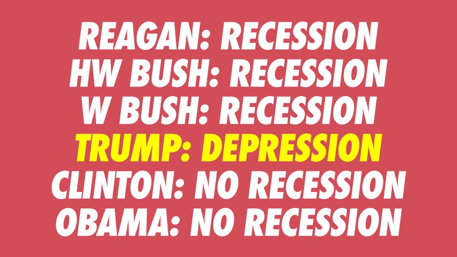 , #TrumpRecession. It's official. Trump squandered a growing economy that he inherited., The Politicus