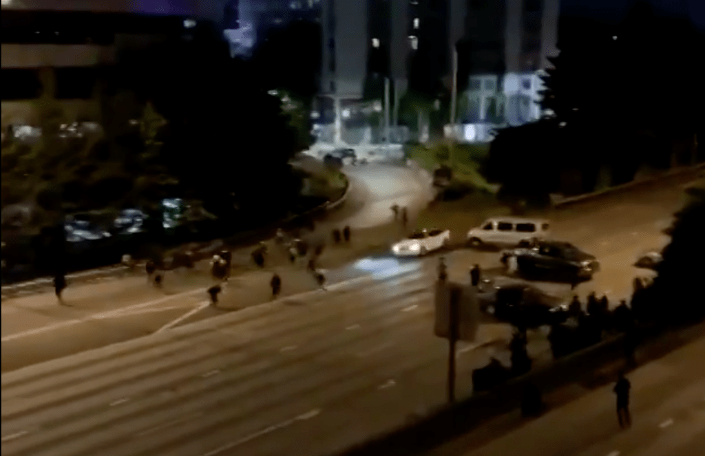 , another car hits protesters: This time in Seattle. three hit, one critical, The Politicus