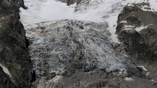 The bottom section of glacier is at risk of collapse.